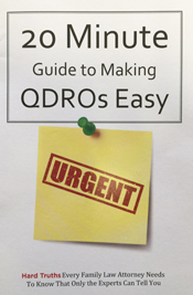 20 Minute Guide to Making QDROs Easy